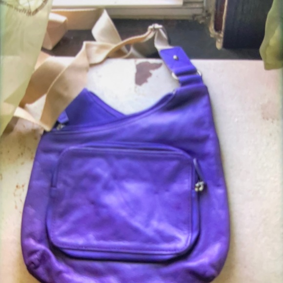 MOVING SALE NO HAGGLING NO BRAND WOMEN SMALL PURPLE/TAN CROSSBODY BAG